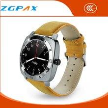 2016 Armbanduhr Mp3-player Smart Uhr Männer Leder Armband Smartwatch mit Kamera Klassischen Runden Bildschirm Bluetooth Uhren X3