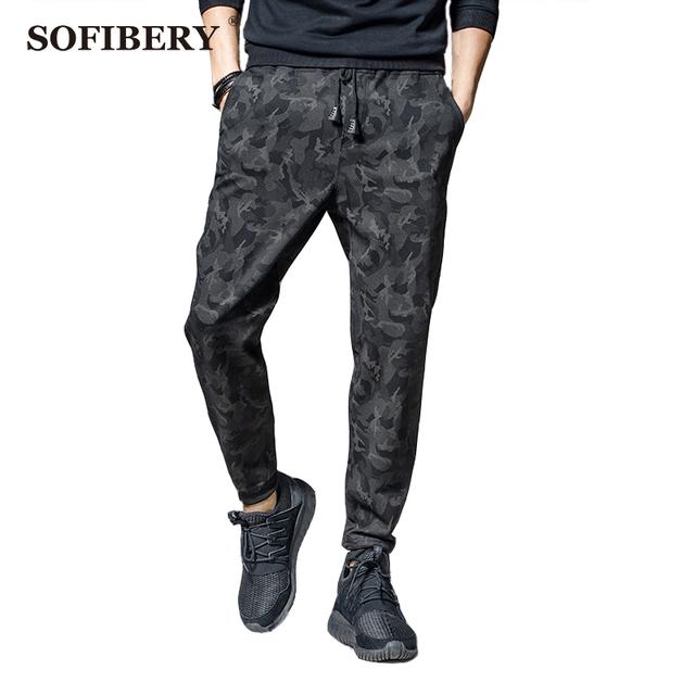Sofibery 2017 nova primavera camuflagem calças dos homens harem pants slim calça casual calças calças dos homens m-4xl s170224s25