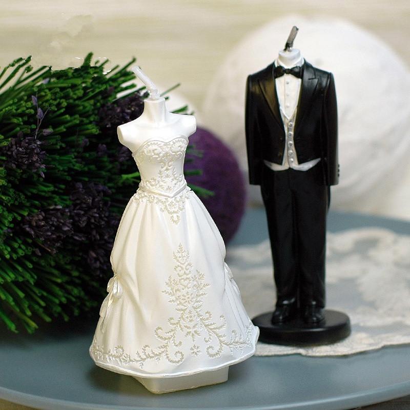 unidsset mini novio novia vela diy tabla hogar velas decorativas velas decoracin de