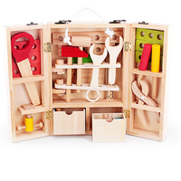 Kids Toys Disassembly And Assembly Toy Wooden Carpenter Tool Set Children's 3D Puzzle Box For Children