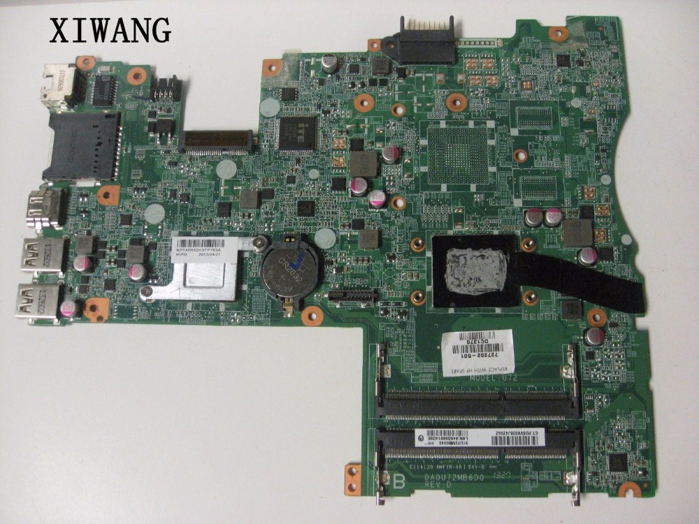 727202-501 727202-001 Free Shipping FOR HP PAVILION TOUCHSMART 14-F Laptop Motherboard DA0U72MB6D0 REV:D A8-5545M 100% tested727202-501 727202-001 Free Shipping FOR HP PAVILION TOUCHSMART 14-F Laptop Motherboard DA0U72MB6D0 REV:D A8-5545M 100% tested