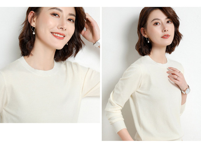 Yellow Cashmere Sweater For Women Sweaters Female Pink Wool Winter Woman Sweater Knitting Pullovers Knitted Sweaters Jumper 2019 24