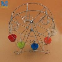8 Cups Iron Ferris Wheel Cake Stand Wedding Cupcake Stands Rotating Cake Stand Holder