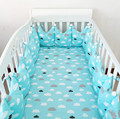 4Pcs/Sets Baby Bedding Set Cotton Printing Cute Crown Shape Baby Bumper Bed Around Can Washed Anti Collision Crib Bumpers