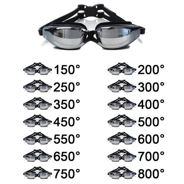 785d8b8ea9 Swimming Goggle Glasses Optical Myopia Nearsighted 150 to 800 Degree  Electroplate Professional Swim Eyewear Anti-