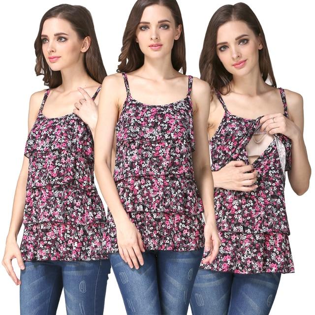 MamaLove Новый материнства Одежда Для Беременных Жилет Топ Грудное Вскармливание Топы Беременность одежда для Беременных Кормящих Топы