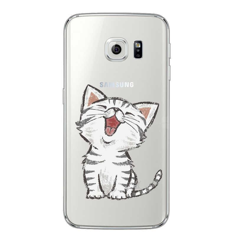 Fundas de animales para Samsung Galaxy A3 A5 J5 2015 2016 2017 S9 S8 S7 S6 Edge J2 J5 Prime funda trasera de silicona suave TPU transparente