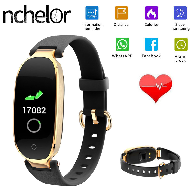 Fashion Ladie Smart Watch with Heart Rate Monitor Sedentary Reminder Sport Fitness Tracker Waterproof Bluetooth Women Wristwatch bangwei men women smart watch information vibration reminder sedentary reminder music player fashion fitness smart digital watch