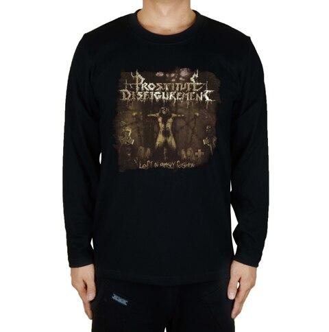 16 дизайнов, футболка для проститутки, секс, убить рок, брендовая футболка, хлопок, панк, фитнес, Hardrock, металл, черный, длинный рукав, рубашки - Цвет: 16