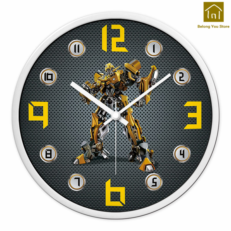 Horloge murale en résine créative pour enfants pendule Art Craft montre murale circulaire décor à la maison Hartsi horloge moderne outil décoratif WKP185