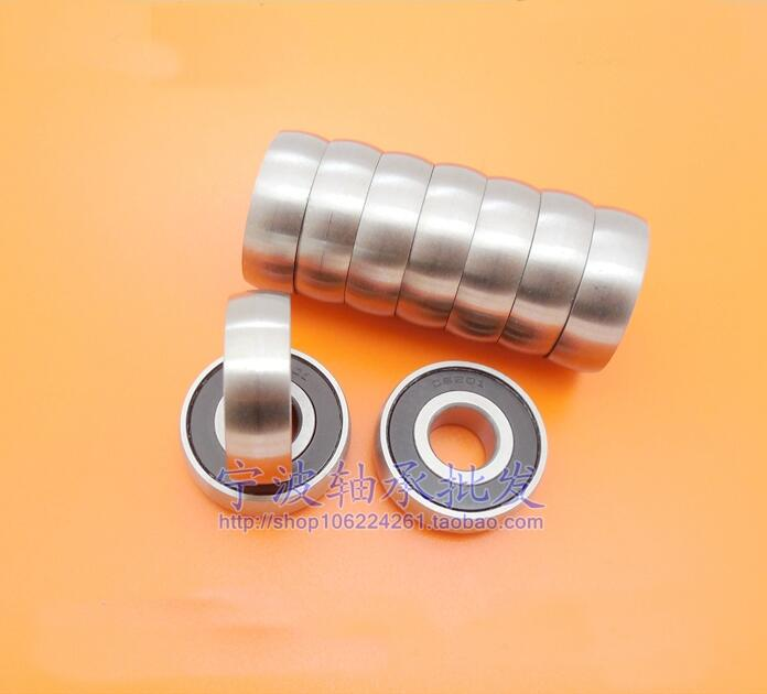 100pcs lot CS203 2RS RS 17x40x12 mm pulley spherical bearings arc track pulley bearing 17 40