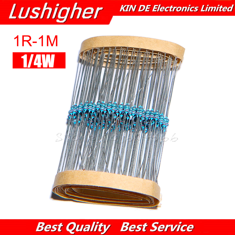 100PCS 1//4W 0.25W 1/% Metal Film Resistor 3K Ohm 3KR