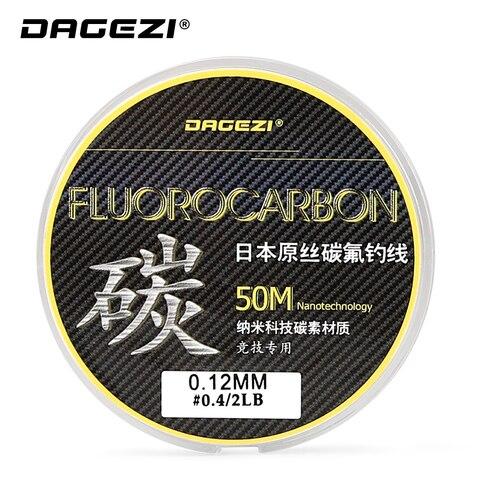 fibra de carbono linha de pesca lider dagezi 2 15lb 100 fluorocarbono linhas de pesca