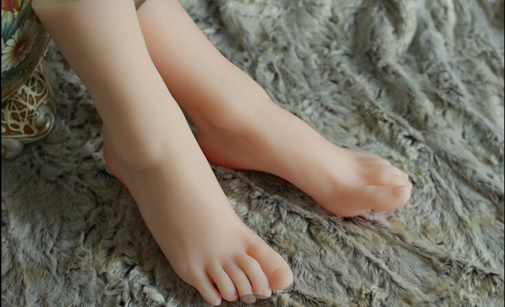Top quality solid silicone feet model foot fetish doll sex toys lifelike skin woman fake feet free shipping top quality fake foot for displaying