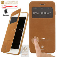 Baseus Magnetic Wallet Flip PU Leather Case For IPhone 7 4 7 Ultra Thin Smart Cover