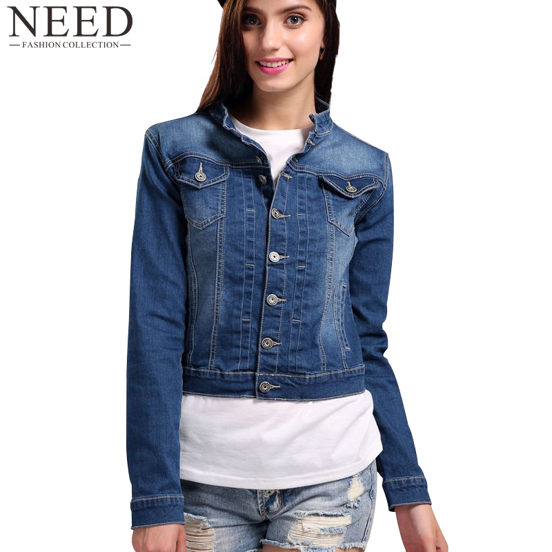 2017 Women Basic Coat Denim Jacket Women Plus Size 4XL 5XL Winter Denim Jacket For Women Jeans Jacket Women Oversized Denim Coat