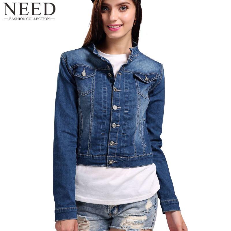 2017 Women Basic Coat Denim Jacket Women Plus Size 4XL 5XL Winter Denim Jacket For Women Jeans Jacket Women Oversized Denim Coat