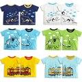 2016 Venda Quente Do Bebê Dos Miúdos Das Meninas dos Meninos T-Shirt de Alta Qualidade Criativa Dos Desenhos Animados Da Menina do Menino das Crianças de Manga Curta T Verão topos