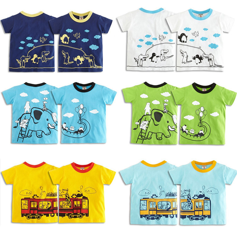 2018 Hot Sale Barn Baby Boys Girls T-Shirt Högkvalitativ Creative Cartoon Short Sleeve Barns Boy Girl Summer Tees Toppar