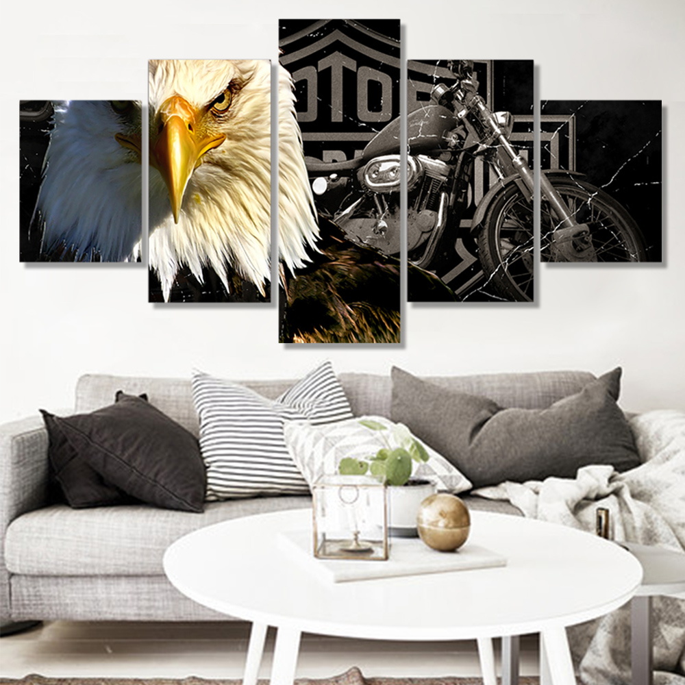 Unframed Canvas Prints Eagle Motorcyclel Wall Art Decor Prints Wall Pictures For Living Room Wall Art Decoration Dropshipping