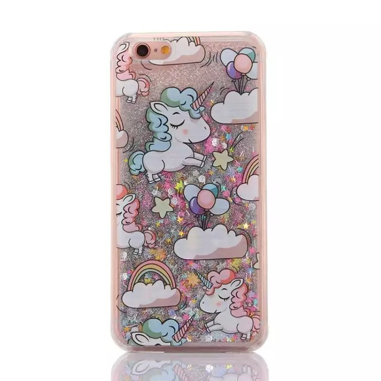 Cover iPhone 6/6s unicorni glitter
