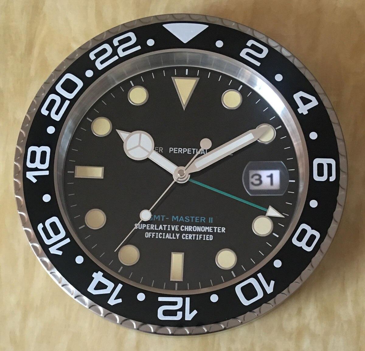 S & F с лупой розничные металлические часы формы настенные часы с календером роскошные часы на стене - 4