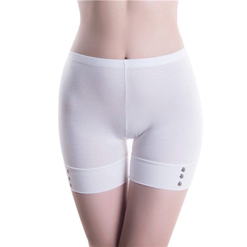 Women Skinny Button   Shorts   Intimates Female Soft Comfortable Seamless   Shorts