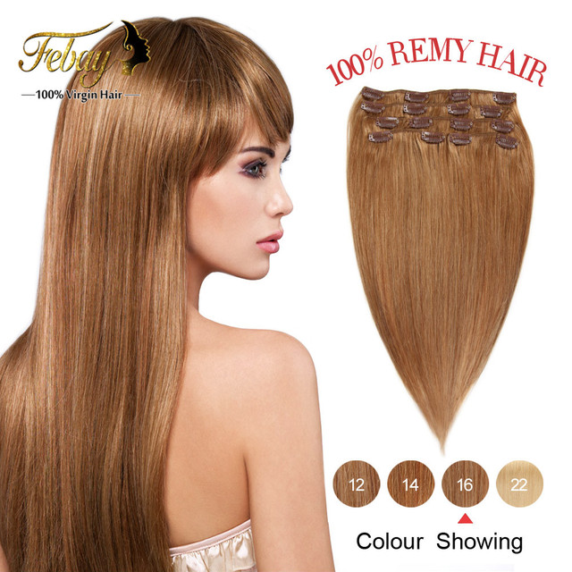 "14""-20"" Remy Clip In Human Hair Extensions 70g Human Hair Clip In Hair Extensions 7Pieces/Set Remy Hair Clip Cabelo Tic Tac"