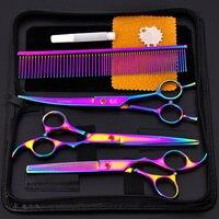 High Quality 3Pcs Set Pet Puppy Dog Hair Scissor Universal Cat Dog Hair Trimming Grooming Shears