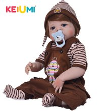 KEIUMI Reborn Baby Doll reborn 57cm 23 Inch Reborn Baby Girl LifelikeToys Full Silicone Superise for Child gifts(China)