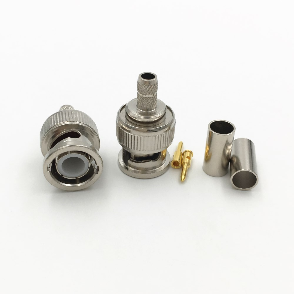 escam-10pcs-brass-3-in-1-bnc-male-q9-crimp-rg58-rg142-rg400-lmr195-rf-coax-cable-straight-connector-for-cctv-cameras
