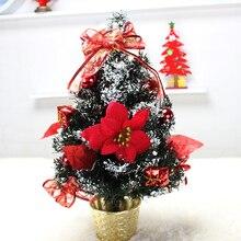 XMAS Gift mini table XMAS trees Decoration christmas tree with ornament for X'mas, Free shipping