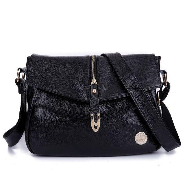 4800bb2fb1 Free Shipping 2017 Genuine Leather Women s Handbags Fashion Womens  Messenger Bag Shoulder Bag Ladies Crossbody Bags