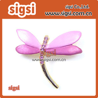 50/100pcs wholesale Fancy pink Enamel metal wedding decorative dragonfly rhinestone brooch pin for gift