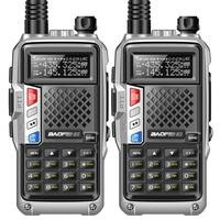 2PCS BaoFeng BF UVB3 PLUS Walkie Talkie 8W Dual Band Two Way Radio Portable Ham CB Radio Transceiver Multiple Charging Model