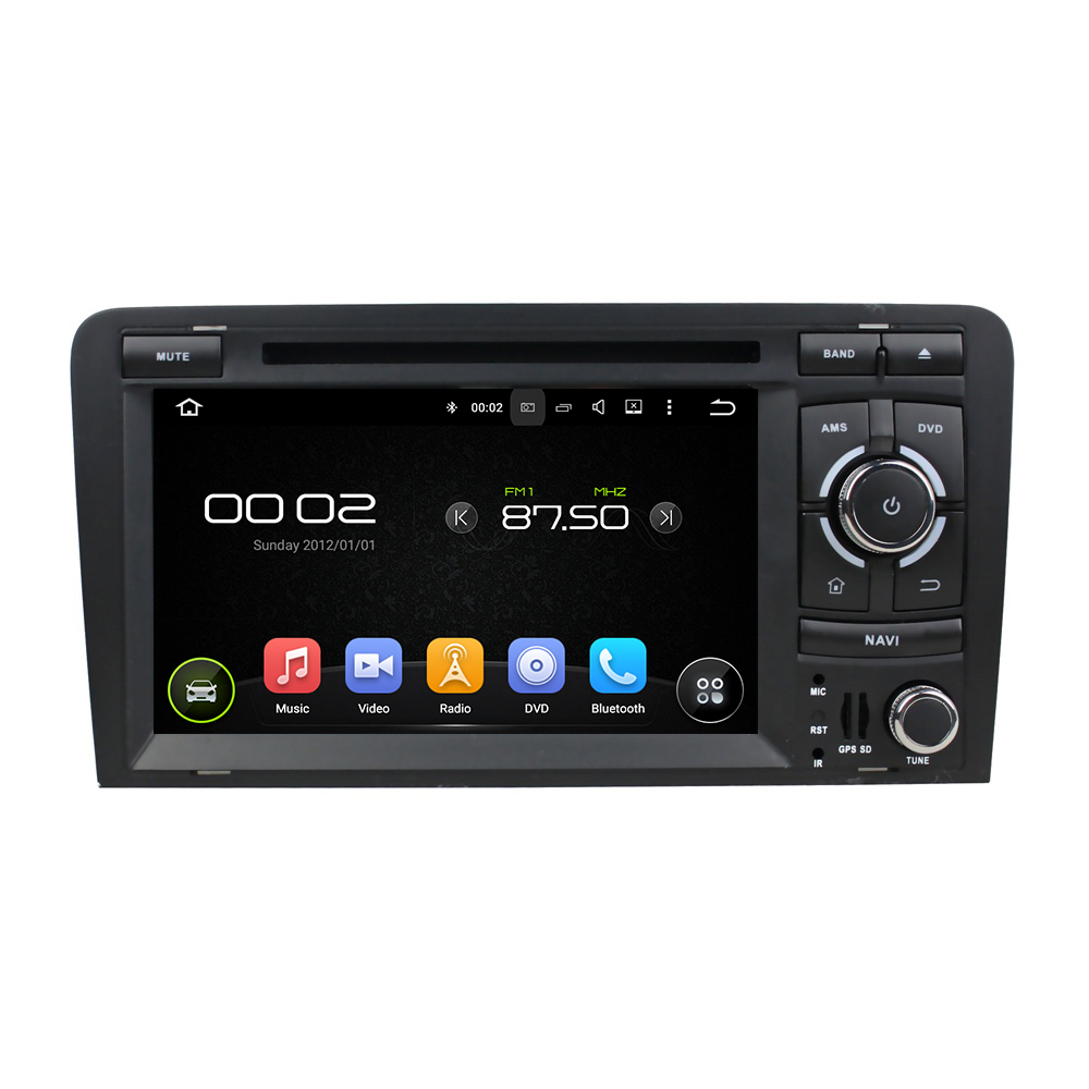 7″ Android 6.0 Octa-core Car Multimedia Player For AUDI A3 2003-2013 GPS Navigation Car Video Audio Stereo Free MAP CANBUS
