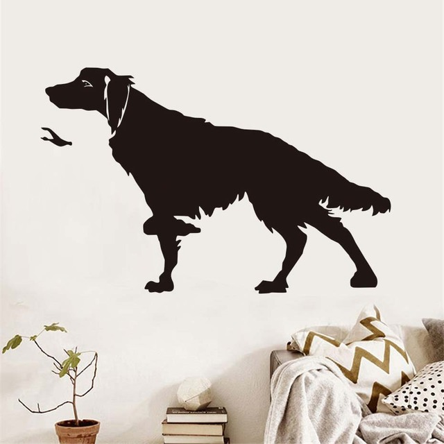 Hunters Dog Wall Stickers Funny Dog Home Decor For Living Room ...