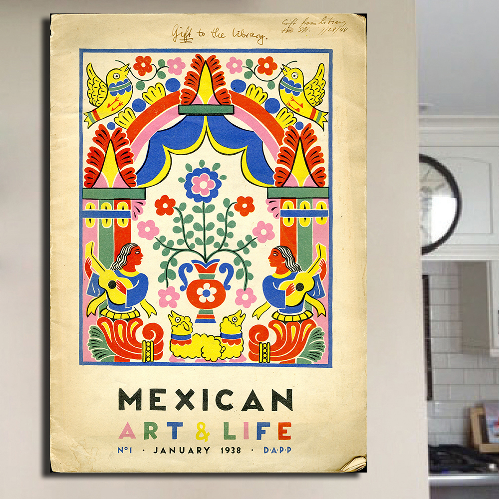Contemporary Mexican Outdoor Wall Art Sketch - The Wall Art ...