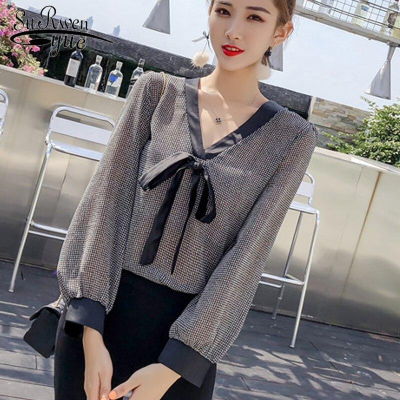 0bf8c5fab66 Шифон для женщин блузки для малышек рубашки мальчиков осень 2018 Женская  одежда с длинным рукавом Повседневная