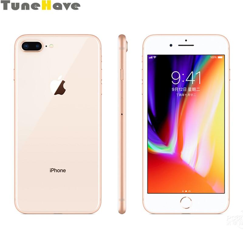 Оригинал, Apple iPhone 8 и iphone 8 Plus, 3 ГБ ОЗУ 64 Гб/256 Гб ПЗУ, шестиядерный, 5,5 дюймов, 12 МП, iOS 11, 4G LTE, отпечаток пальца, 2691 мАч