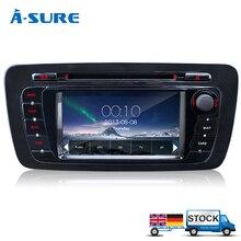 A-Sure DVD GPS Çalar Bluetooth Araba Sat Nav Stereo Radyo Navigasyon 2 Din GPS Kafa Ünitesi Için KOLTUK IBIZA 2009-2013
