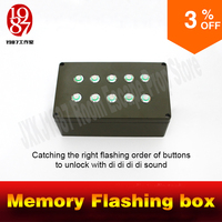 Real Life Room Escape Prop Memory Flashing Box Catch Right Flashing Order To Unlock Chamber Room