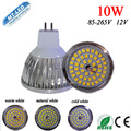10pcs/lot SMD 2835 Led Lamp 10W led light MR16 led bulbs 12V led light 2 years warranty free shipping