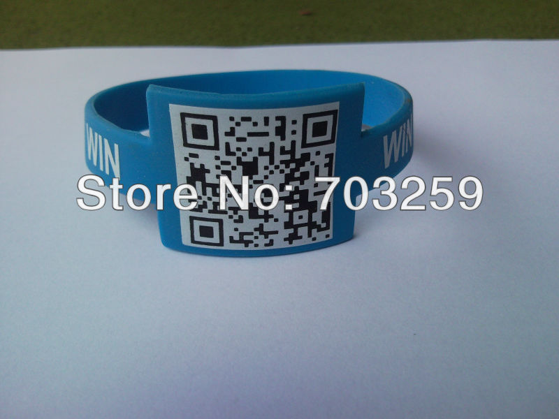 500pcs Customized Qr Code Rubber Silicone Bracelets Eg Wwb005 Personalized Promotion Bangle Hand Bands For