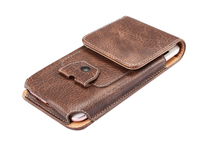 Man Outdoor Belt Clip Synthetic Leather Mobile Phone Case Card Pouch For Meizu MX5 M2 Note