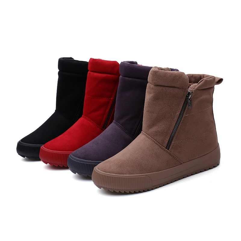 Sıcak 2018 Bayan Çizmeler Yuvarlak Ayak düz ayakkabı Martin çizmeler Kadın Botları Katı Lace Up Bayan rahat ayakkabılar Konfor Sonbahar Ayakkabı