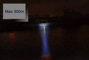 Image 5 - Waterproof LED Head Light Headlamp 2 LEDs LED Headlight Blue/Yellow Fishing Flashlight Torch Head Lamp + Charger + 18650 Battery