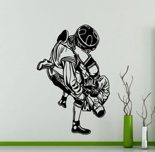 MMA UFC Fighters Wall Sticker Extreme Fight Sport Martial Arts Vinyl Decal Home Decor Living Room Poster Vinyl adesivo NY-174 футболка мужская affliction 331254899788 ufc mma
