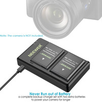 Neewer EN-EL14 EN-EL14A pil şarj cihazı ve 2-Pack için şarj edilebilir Li-ion piller Nikon D5600 D3300 D3500 D5100 D5500 D3100