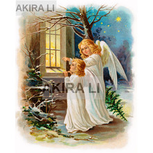Diamond Painting Christmas Day 5D DIY Full Square Good Angel Cross Stitch Home Decoration Gift Mosaic